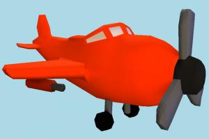 Toy Plane airbus, plane, airplane, aircraft, toy, cartoon, lowpoly, vessel