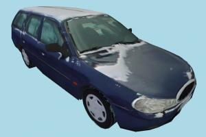 Car Snowy car, truck, vehicle, transport, carriage, blue, snow, ice, cold, low-poly