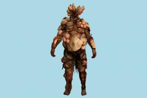 Bloater Zombie zombie, monster, evil, infected, bloody, tlou, the_last_of_us, character
