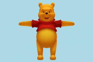 Pooh the Bear bear, animal-character, character, cartoon, honey