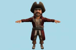 Pirate pirate, sailor, cartoon, toony, man, male, people, human, character, chibi