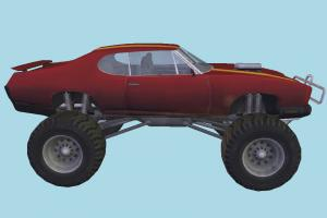 Sand-Stinger Car 3d model