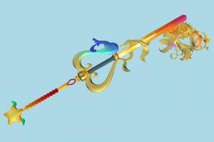 Destinys Embrace Kingdom-Hearts, KH, keyblade, key, sword, object, fantasy