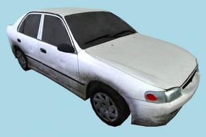 Dirty Car car, truck, vehicle, transport, carriage, dirty, dust, low-poly
