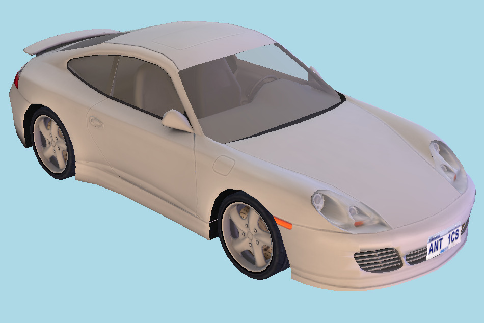 Car High-poly with interior details 3d model