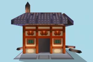 House Low-poly house, home, building, build, domicile, structure, small, cartoon, lowpoly