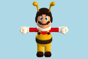 Bee Mario super-mario, mario, bee, animal-character, character, cartoon