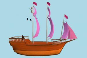 Pirats Boat galleon, pirate-ship, boat, sailboat, pirate, ship, watercraft, vessel, wooden, maritime