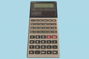Calculator calculator, digital, electronic, electronics, casio, lowpoly