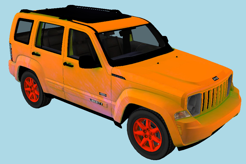 Jeep Car Liberty Latitude 3d model