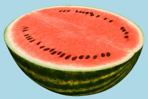 Watermelon Half watermelon, fruit, vegetable, food, green, red, fresh, tasty, slice, juicy