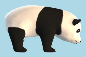 Panda panda, bear, animal, animals, cartoon