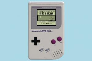 Game Boy nintendo, gameboy, playstation, handed, game, play, fun, kid, toy, device, electronic, lowpoly