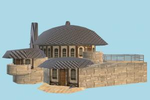 House pavilion, village, farm, house, town, country, home, building, build, residence, domicile, structure