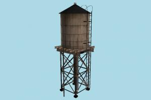 Water Tank tower, water, barrel, roof, brooklyn, tank, street, object