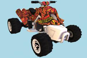 Sand Stinger ATV sand-stinger, ATV, motorbike, bike, motorcycle, motor, cycle, vehicle, car, high-poly