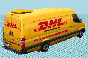 DHL Delivery Bus DHL Delivery Bus-2