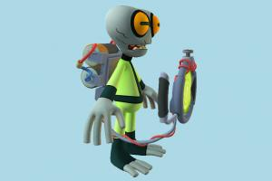 Grey Matter Ben10, ben, ten, character, monster, cartoon