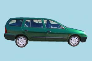 Car Green Low-poly car, truck, vehicle, transport, carriage, green, low-poly