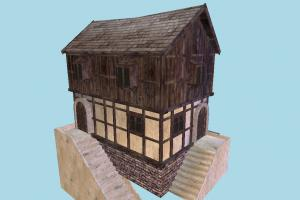 House house, home, building, medieval, build, apartment, flat, residence, domicile, structure