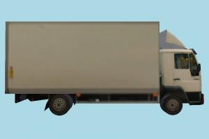 Cargo Truck vehicle, truck, cargo, carriage, car, van, bus, metro, transit, low-poly