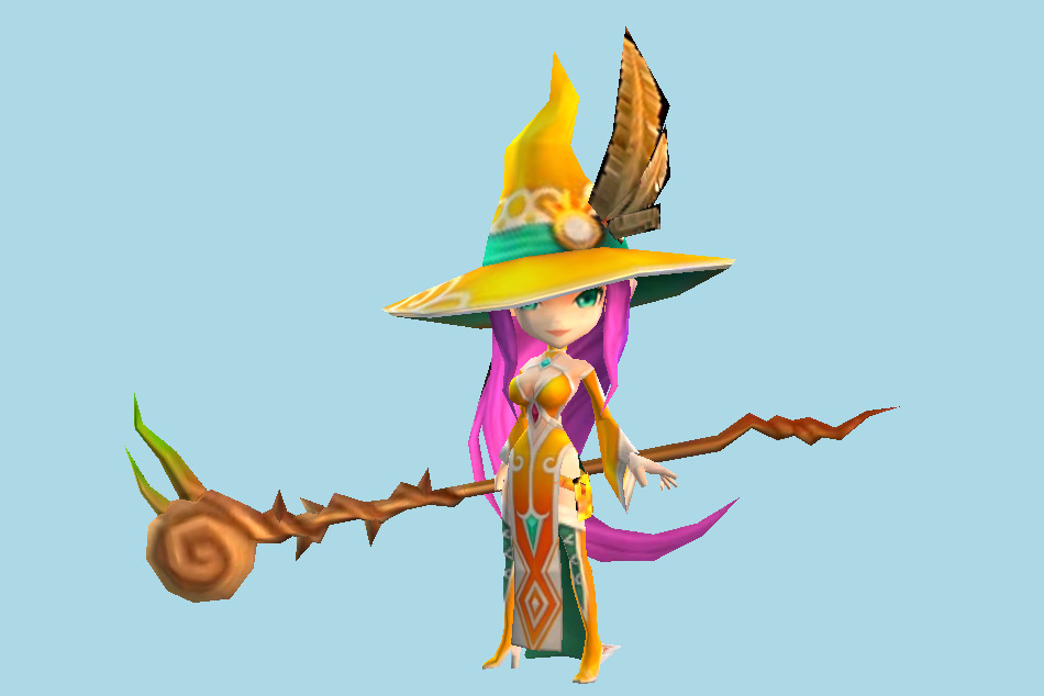 Summoners War Mystic Witch (Awakened) 3d model