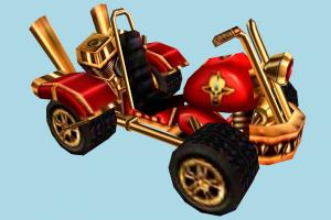 Crash Nitro Kart Crash-Nitro-Kart, cartoon, vehicle, car, carriage, king, lord, motorbike, bike, motorcycle, motor, cycle