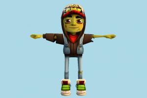 Zombie Jake zombie, character, human, people, child, boy, kid, children, man, nerd, male