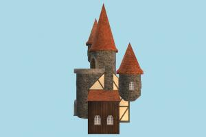 Tower castle, tower, house, building, build, domicile, structure, church