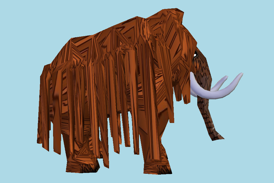 Mammoth Elephant Cartoon 3d model