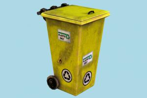 Trash dumpster, trash, recycling, can, recycle, garbage, waste, rusty, urban, refuse, street, object