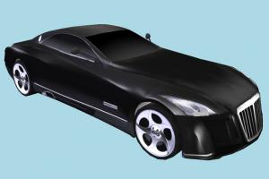 Maybach Car maybach, car, truck, vehicle, transport, carriage, black, batman, low-poly