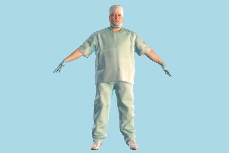 Surgical Doctor Male 146 3d model