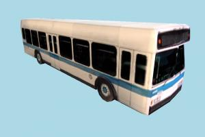 Bus Low-poly bus, van, car, vehicle, truck, carriage, low-poly