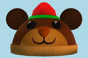 Roblox Santa teddy, santa, hat, toy, face, baby, cartoon