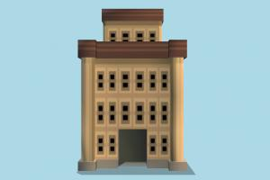 Building building, cartoon, build, house, home, lowpoly, structure