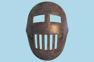 Iron Mask armor, mask, iron, metal