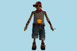 Rapper Man rap, rapper, singer, metalica, street-boy, music, player, comic, glasses, chain, gang, robber, criminal, thin, bully, tattooed, trouper, galligaskins, character, man, male, person, people, human, cartoon