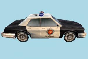 Police Car Low-poly police-car, police, car, emergency, vehicle, truck, carriage, low-poly