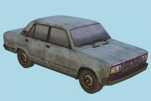 1995 Lada Car car, vehicle, soviet, lada, russian, dirty, russia, grunge, vaz, 2107, transport, carriage