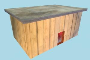 House Lowpoly hut, cottage, shanty, shack, cabin, small, house, home, farm, country