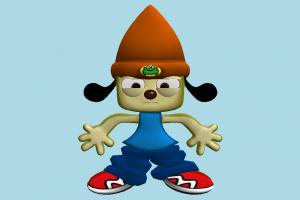 PaRappa character, cartoon, toony