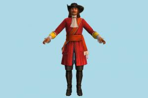Pirate pirate, man, male, people, human, character, cartoon, lowpoly