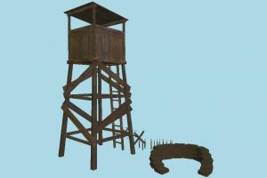 Guard Tower tower, guard, wooden, house, build, defense, structure