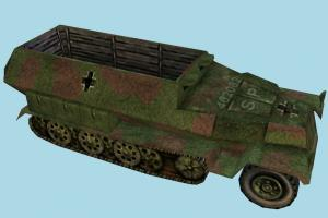 Coffin Car Low-poly coffin, death, truck, vehicle, car, carriage, wagon, military, military-car, military-truck, low-poly