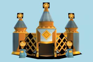 Palace Lowpoly palace, mansion, castle, house, building, lowpoly, structure