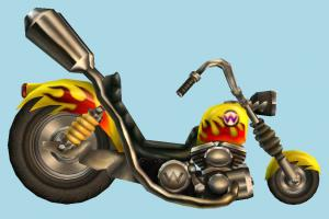 Wario Bike motorbike, bike, motorcycle, motor, cycle, cartoon, sport, sportive, speed, fast, racing, race