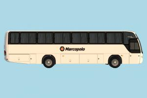 Marcopolo Bus Bus, truck, vehicle, car, carriage