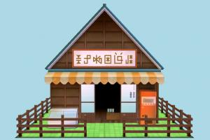 Shop shop, market, house, home, building, build, residence, domicile, cartoon, structure