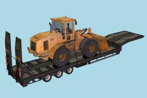 Trailer tractor, truck, constructor, trailer, vehicle, carriage